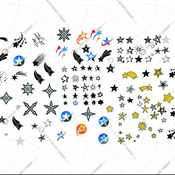 100 Stars SVG Bundle - Vector Shooting Stars For Cricut - Vector Art - Hi Quality Open Layered Downloadable Art Design