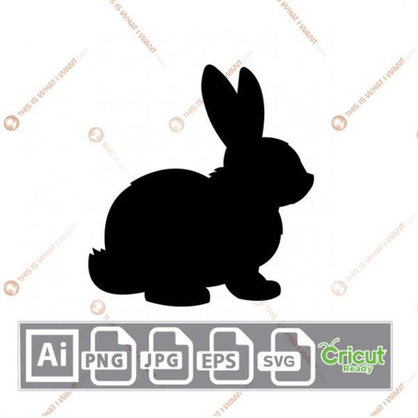 Chubby Easter Bunny - Print n Cut Hi-Quality Vector Bundle - Ai, Svg, Jpg, Png, Eps - Cricut Ready